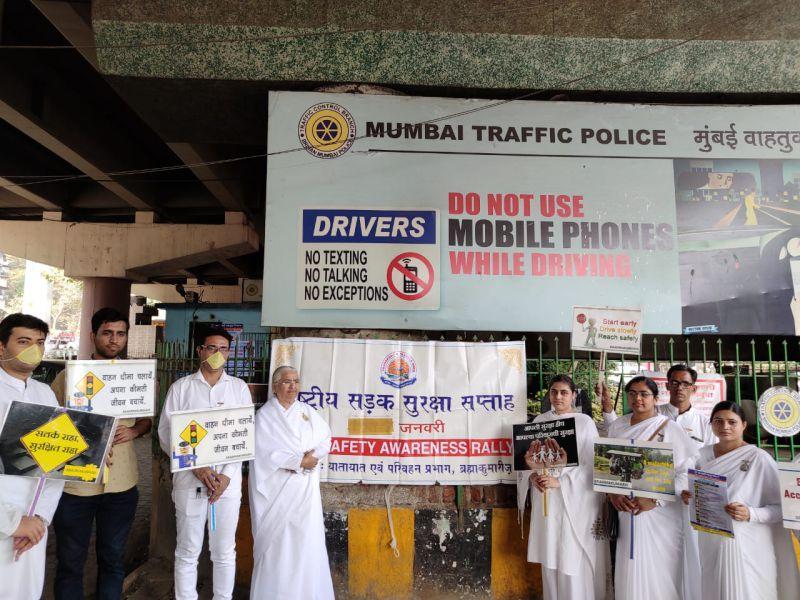Malad(Mumbai) : Brahma Kumaris Invited by Mumbai Transport Office (RTO) to Celebrate Safety Week